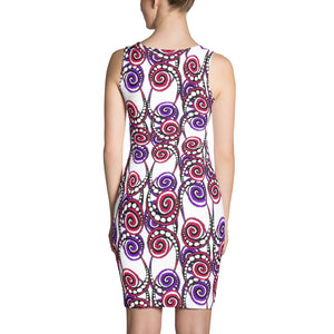 SWIRLY PATTERN Sublimation Cut & Sew Dress - COOOL CATS