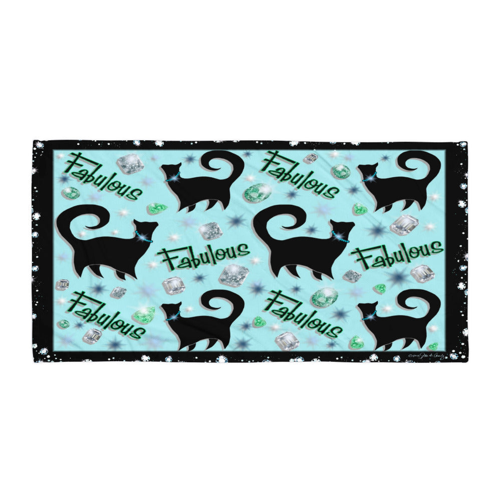 FABULOUS DIAMONDS Towel - COOOL CATS