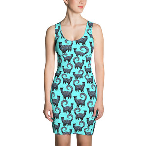 BLUE CATS Sublimation Cut & Sew Dress - COOOL CATS