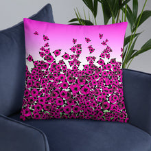 Pink Bed of Roses designer Basic Pillow by John A. Conroy