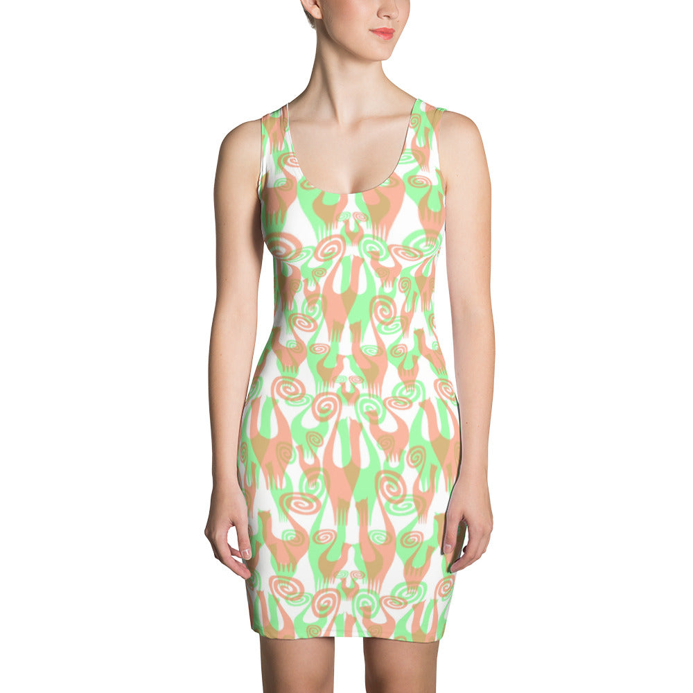 SNOOTY LAYERS Sublimation Cut & Sew Dress - COOOL CATS