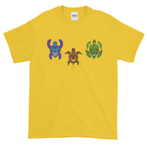 TRIBAL TURTLES HORIZONTAL Short-Sleeve T-Shirt - COOOL CATS