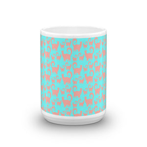 PINK/BLUE SNOBBY Mug - COOOL CATS