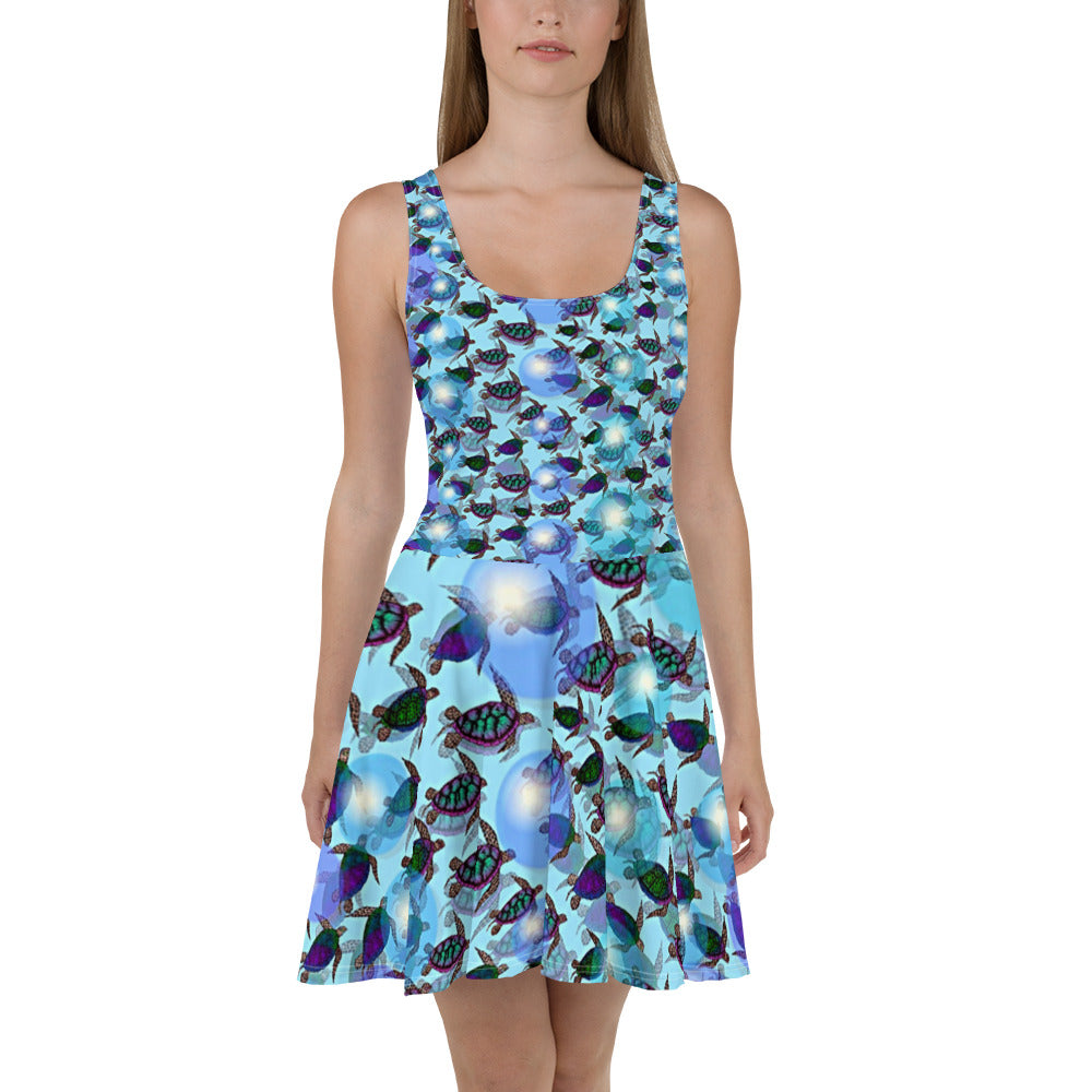 Sea of Turtles Skater Dress