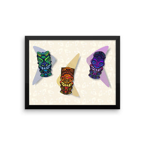 TIKI GUYS Framed poster - COOOL CATS