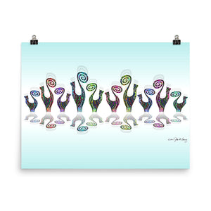 SNOOTY RAINBOW LINE DANCE Poster - COOOL CATS