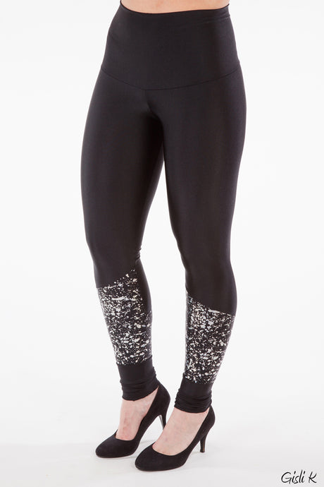 Leggings m/splash silfur