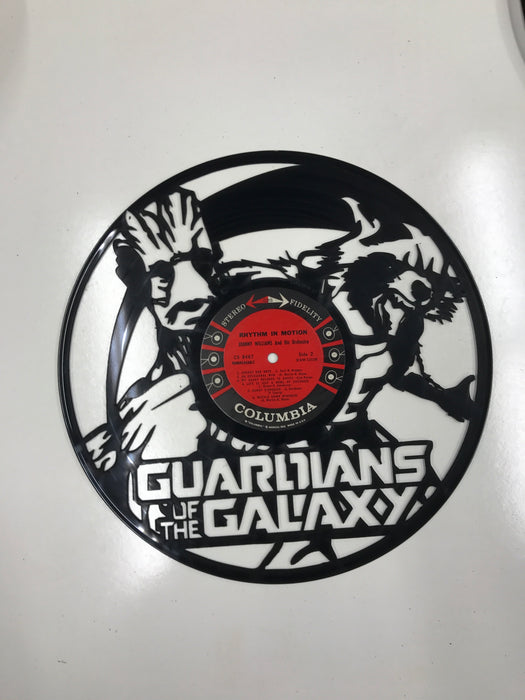 GUARDIANS OF THE GALAXY Laser Cut Vinyl Record artist representation or vinyl clock