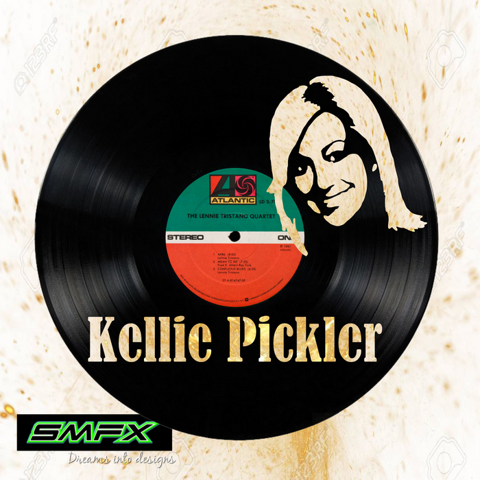 Kellie Pickler Laser Cut Vinyl Record artist representation or vinyl clock