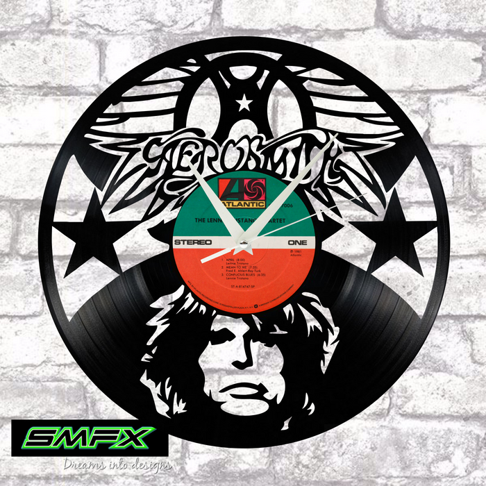 AEROSMITH Laser Cut Vinyl Record artist representation or vinyl clock