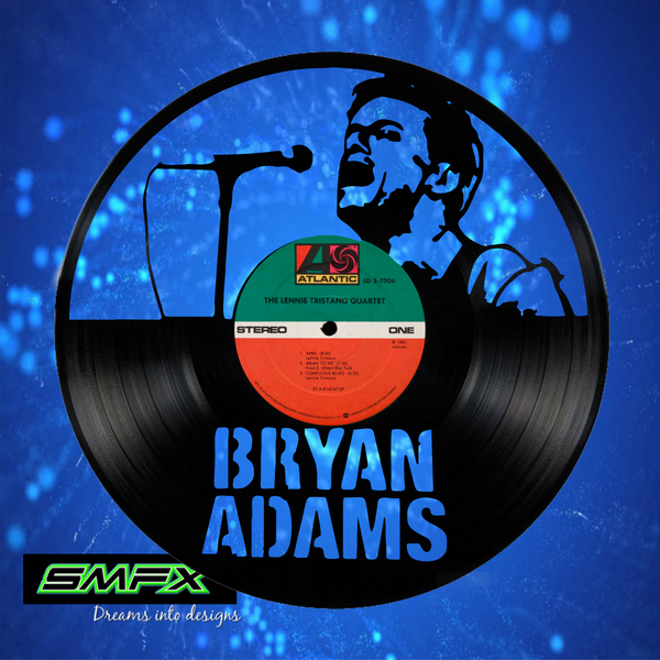 Copy of Bryan Adams Laser Cut Vinyl Record artist representation