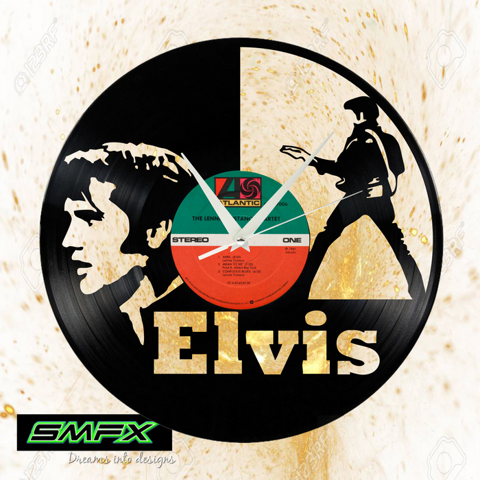 Elvis Laser Cut Vinyl Record artist representation or vinyl clock