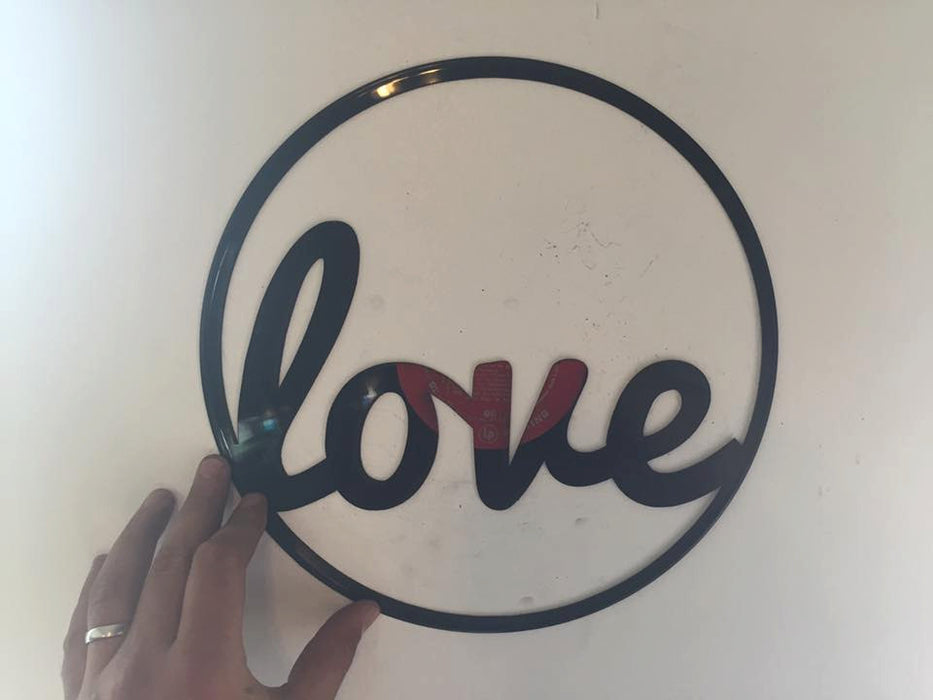 Love Laser Cut Vinyl Record artist representation