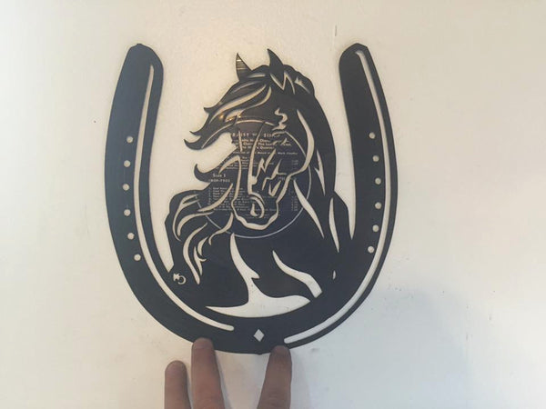 horse and horse shoe Laser Cut Vinyl Record artist representation