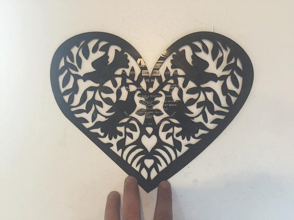 bird heart Laser Cut Vinyl Record artist representation