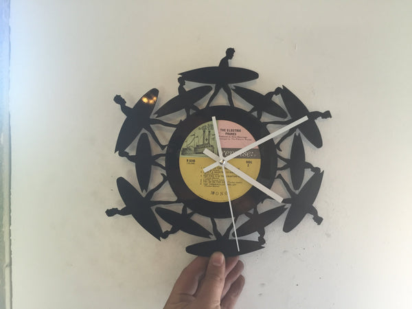 surfer clock Laser Cut Vinyl Record artist representation