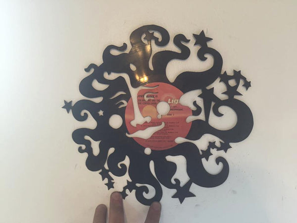 Sun and stars Laser Cut Vinyl Record artist representation