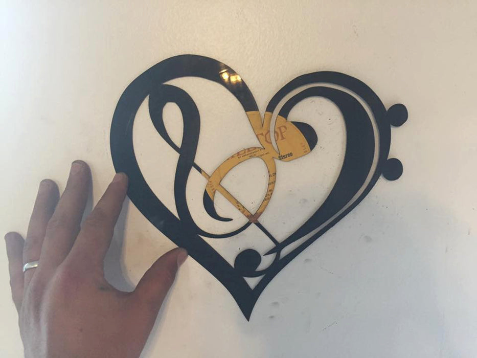Music Heart Laser Cut Vinyl Record artist representation
