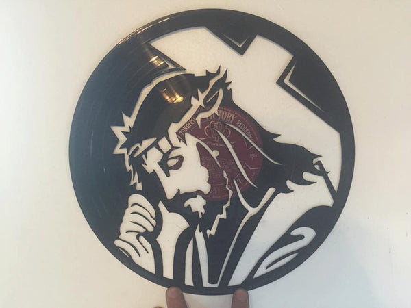 Jesus Cross Laser Cut Vinyl Record artist representation