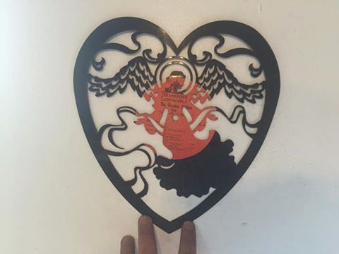 angel heart sign Laser Cut Vinyl Record artist representation