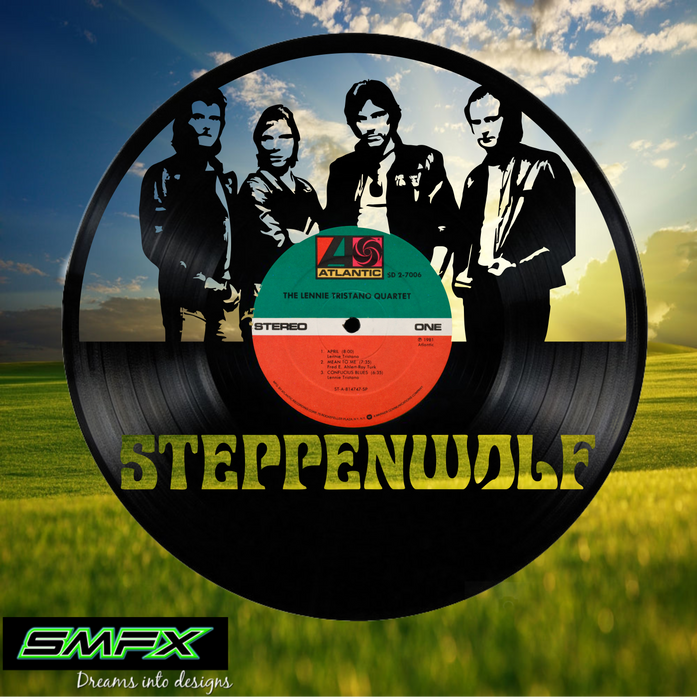 steppenwolf Laser Cut Vinyl Record artist representation or vinyl clock