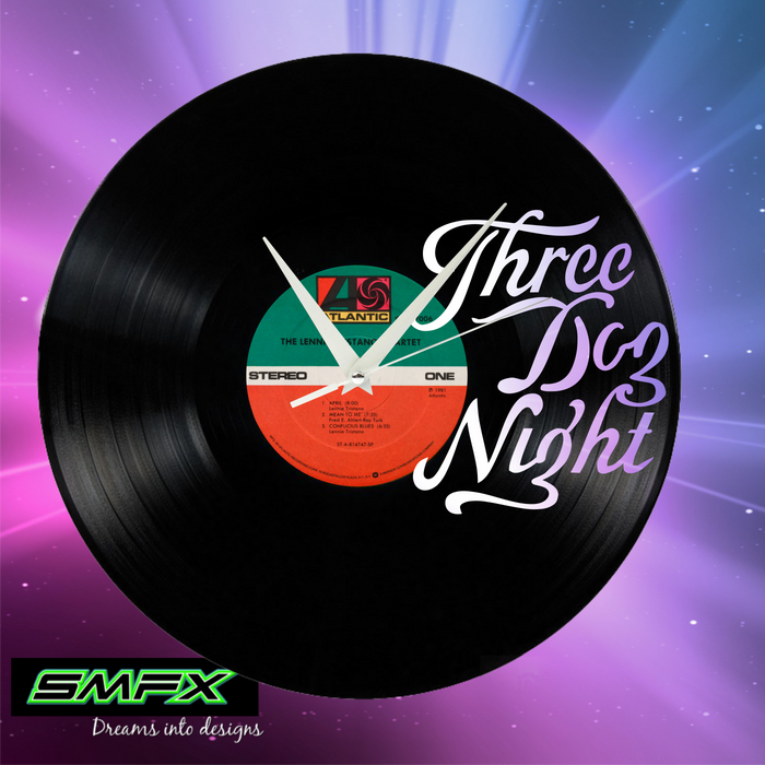 three dog night Laser Cut Vinyl Record artist representation or vinyl clock