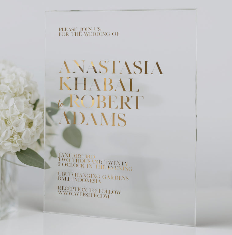 Luxury Acrylic Wedding Invitations | Chic a La Deux