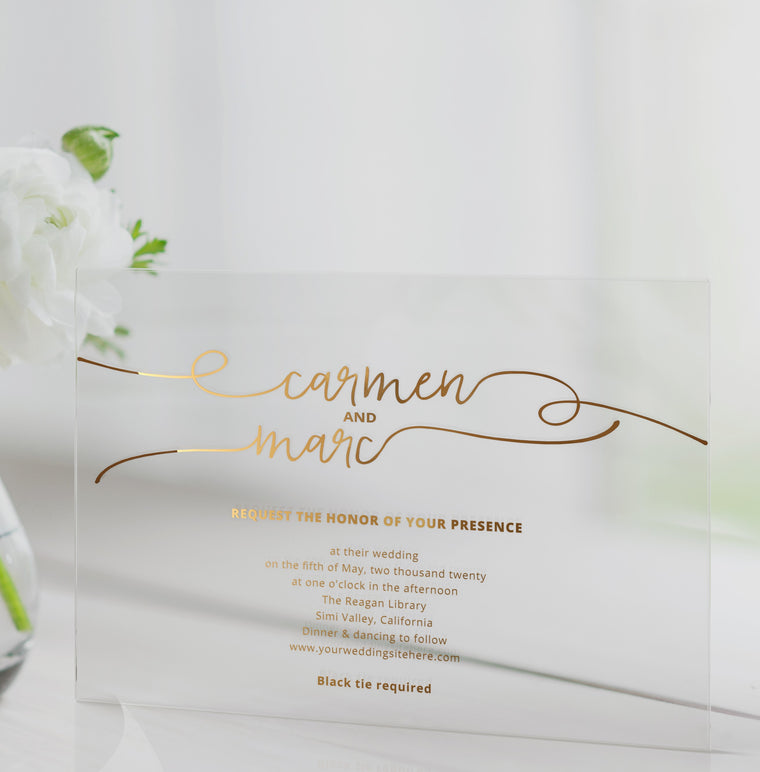 Luxury Acrylic Wedding Invitations | Grandeur Allure