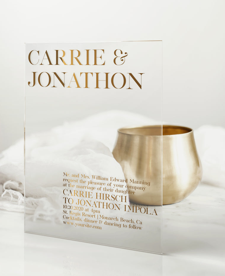 Luxury Acrylic Wedding Invitations | Grand Est