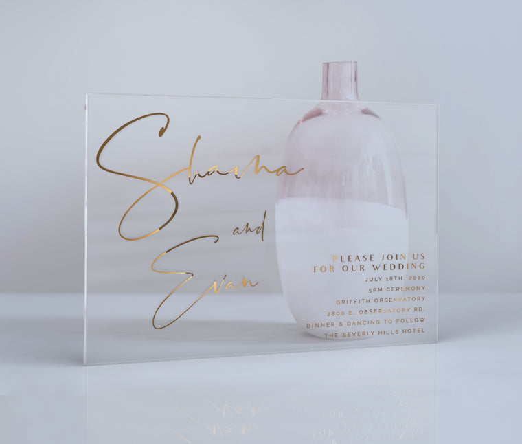 Luxury Acrylic Wedding Invitations | Essonne