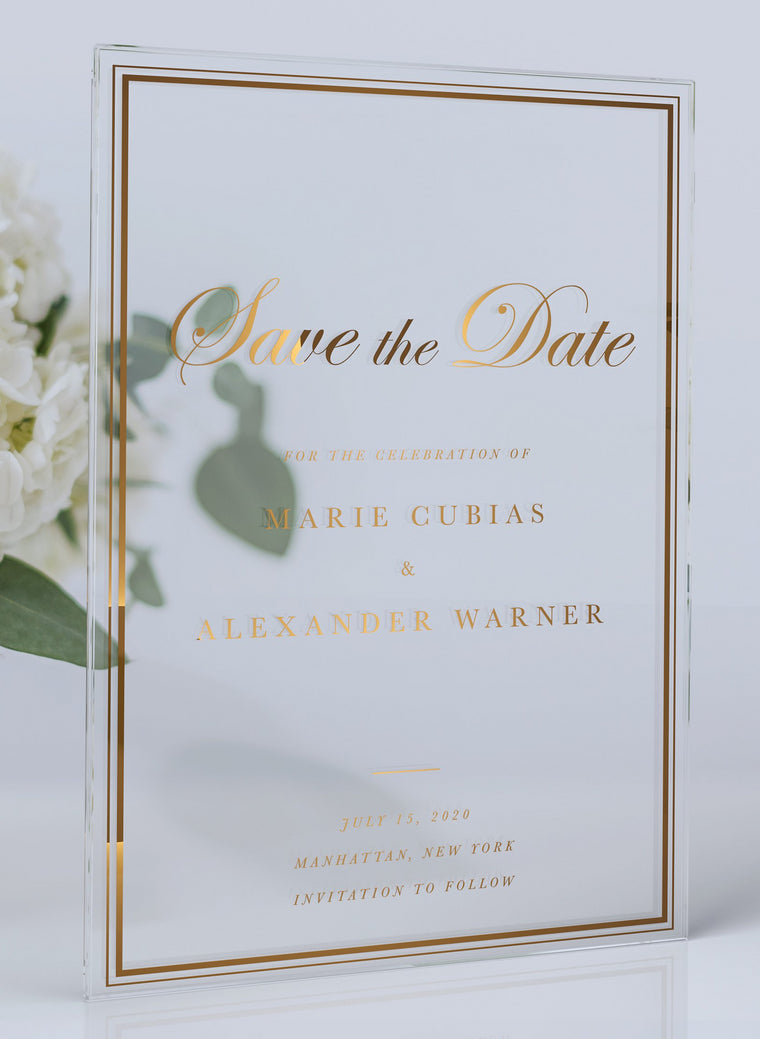 Luxury Acrylic Wedding Save the Date | Calabria