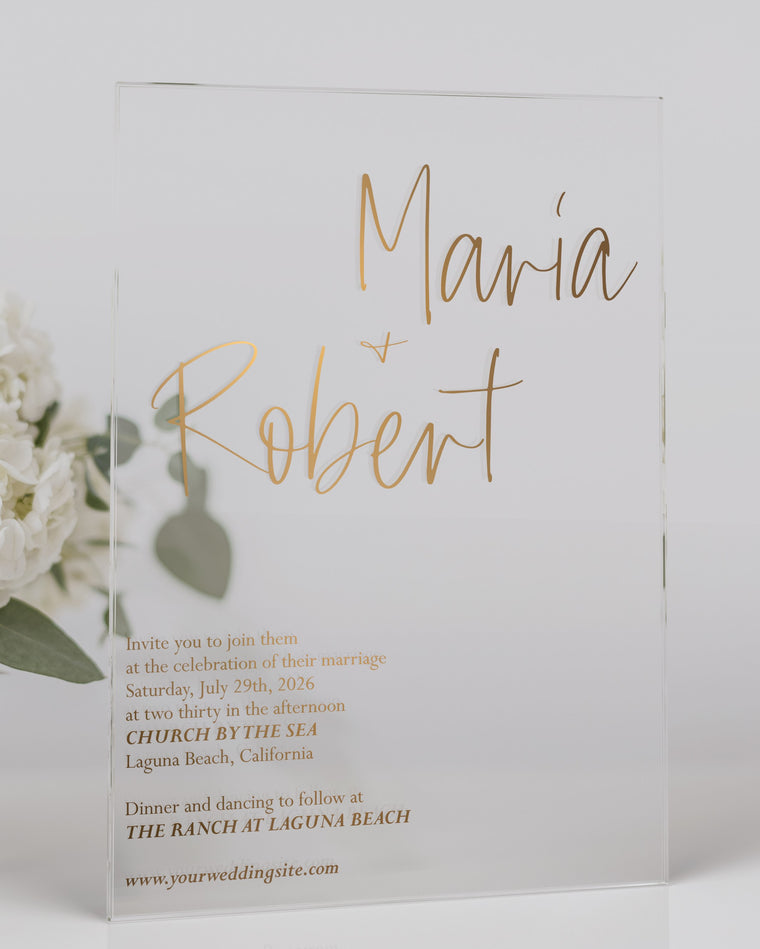 Luxury Acrylic Wedding Invitations | Posh Mod