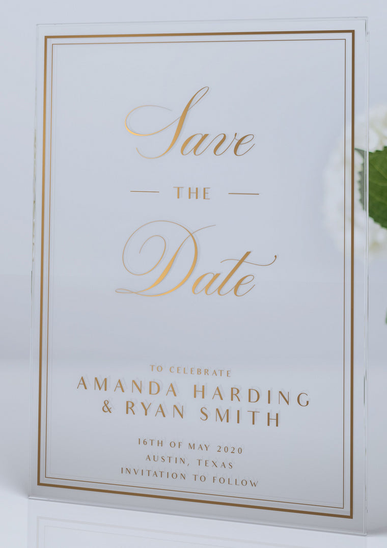 Luxury Acrylic Wedding Save The Date| Pays de la Loire