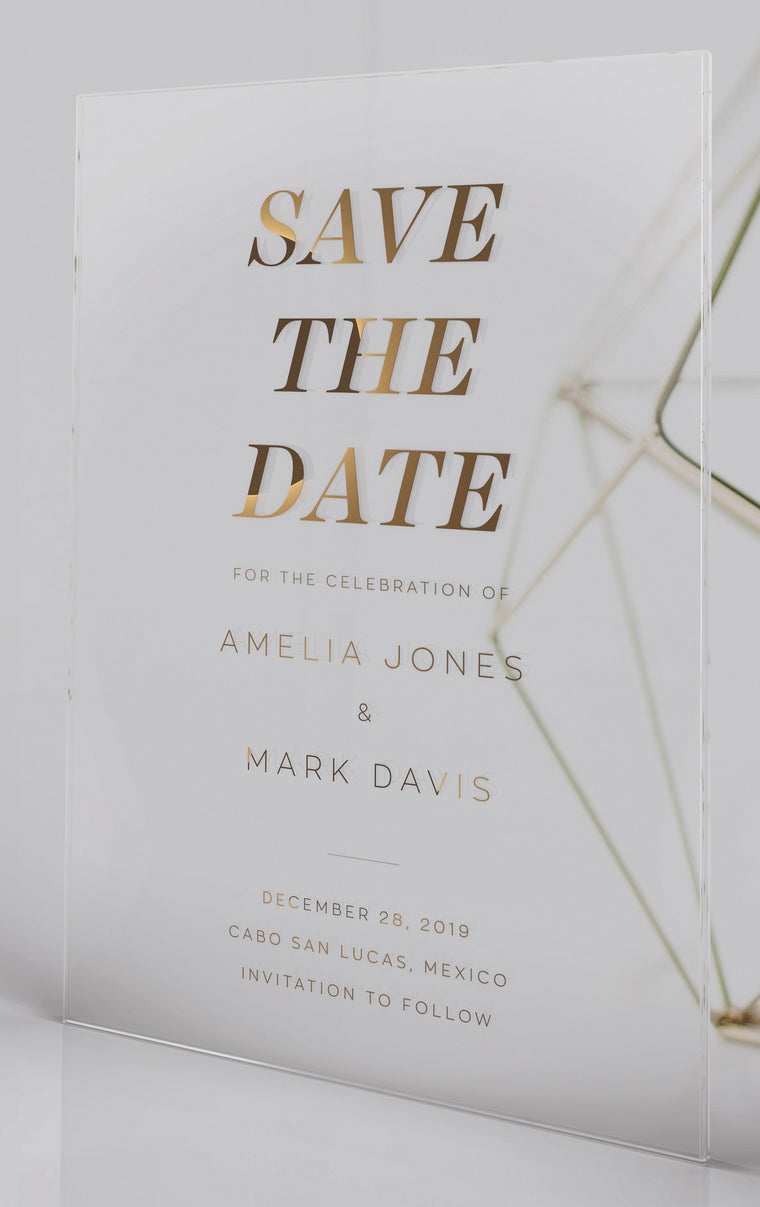 Luxury Acrylic Wedding Save The Date| Felicità