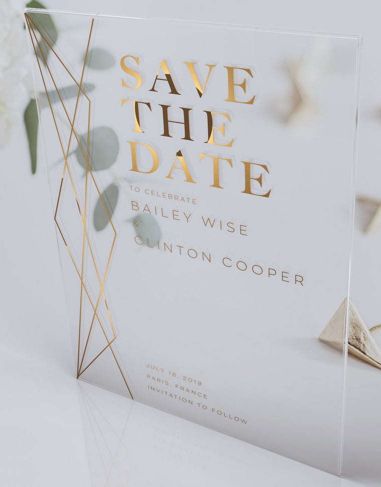 Luxury Acrylic Wedding Save The Dates | Campania