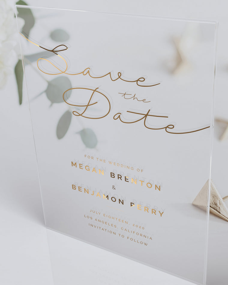 Luxury Acrylic Wedding Save The Date| Toulouse