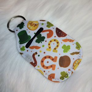 St. Patrick's Day Clovers Horseshoe Pot Of Gold Hand Sanitizer Holder