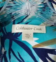 Coldwater Creek Multicolored Snap Up Pleated Pockets Jacket Size 10