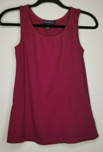 French Laundry Burgundy Sleeveless Blouse Size Large