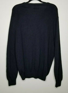 Chaps Black Cashmere V-Neck Long Sleeve Sweater Size Medium
