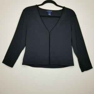 Ann Taylor Black 3/4 Sleeve Cardigan Clasp Size Medium