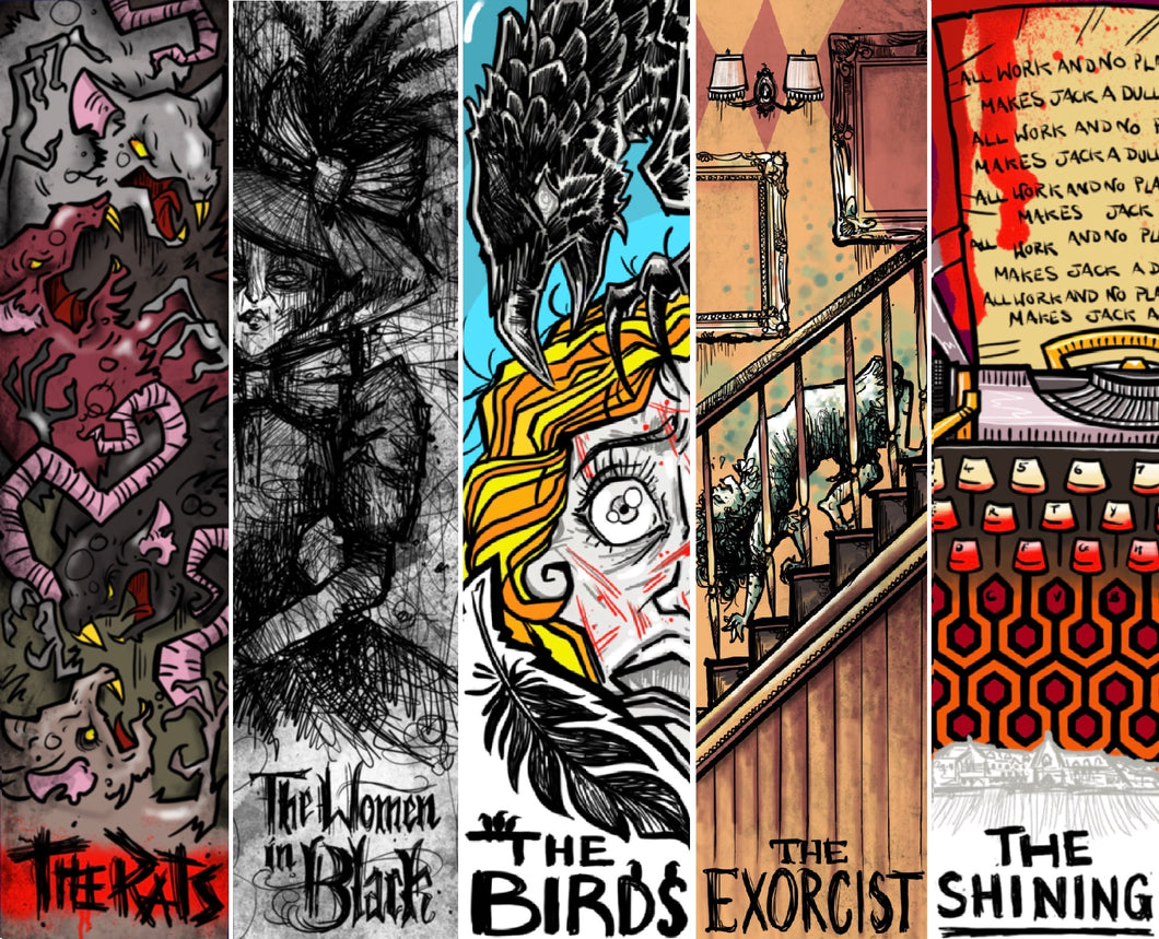 'HORROR' Bookmarks - Complete set of 5