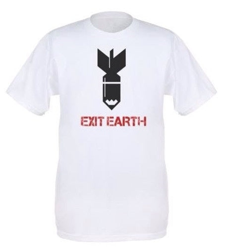EXIT EARTH T-SHIRT - WHITE