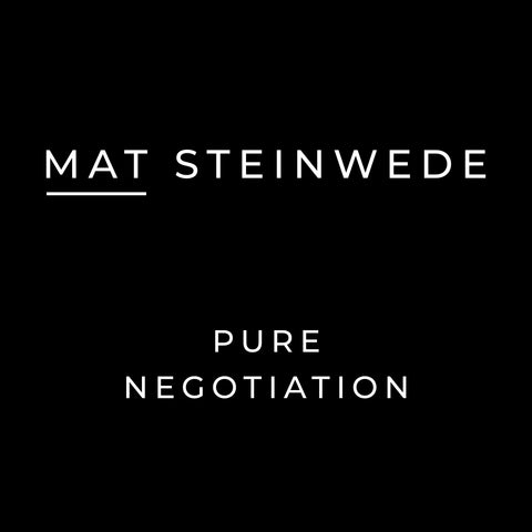 Mat Steinwede's Pure Negotiation Audio Book