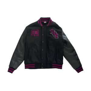 "Sullivan King ""University of Rage Nation"" Varsity Jacket (Black/Violet)"