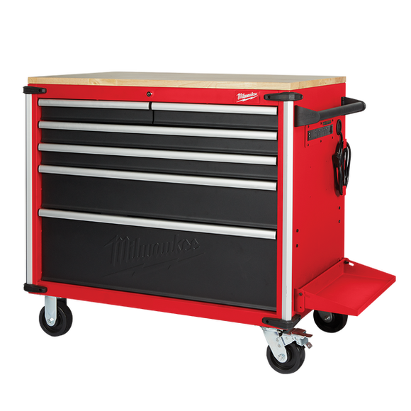 Milwaukee 48228537 Mobile work bench wood top