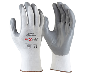 maxisafe WHITE KNIGHT FOAM-NITRILE GLOVE