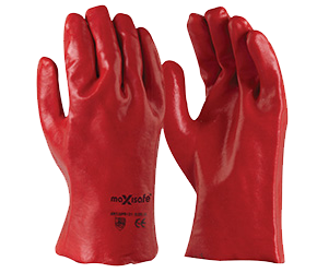 Maxisafe RED PVC GLOVE