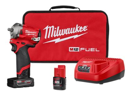 Milwaukee M12 FUEL 3/8 STUBBY IMPACT WRENCH KIT