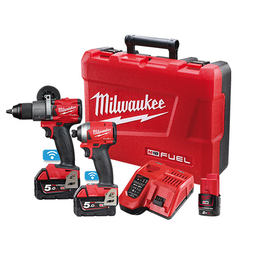 Milwaukee M18ONEPP2A2-502C Hammer Drill Drive and HEX Impact Driver